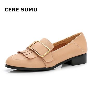 2018 Spring Autumn New Soft Comfortable Slip On Lazy Flats Shoes Fringe Tassel Heels Loafers Fashion Women Casual Walking Shoes