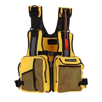 Outdoor Sport Fishing Life Vest Safety Waistcoat Jacket Survival Utility Vest With Mutil-Pocket Outdoor Fly Fishing Vest