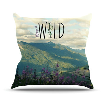 "Robin Dickinson ""Keep it Wild"" Throw Pillow"