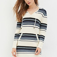 Stripe Hooded Sweater Dress