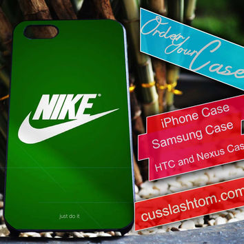 Exclusive Nike Green iPhone for 4 5 5c 6 Plus Case, Samsung Galaxy for S3 S4 S5 Note 3 4 Case, iPod for 4 5 Case, HtC One M7 M8