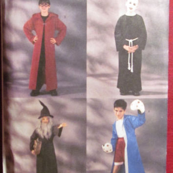 SALE Uncut Butterick Sewing Pattern, 3989! 7-8-10 Boys/Kids/Children's Halloween Costumes/Harry Potter/Boxer Fighter/Wizard/Uncle Fester Cos