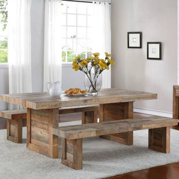 Bardon Expandable Sustainable Pine Dining Table