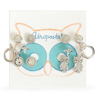 Aeropostale  Womens Whimsical Owl Earrings 6-Pack - Gray