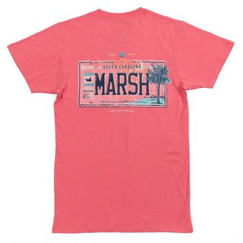 Backroads Collection - South Carolina Tee in Coral by Southern Marsh