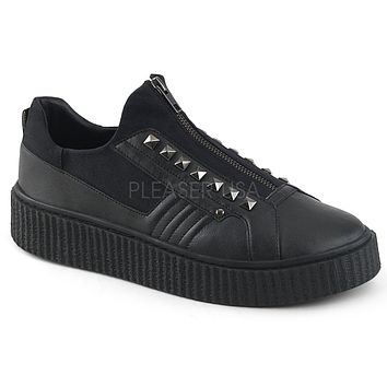 Demonia Zip Front Unisex Creeper Sneakers
