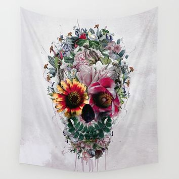 Sugar Skull Wall Tapestry by RIZA PEKER