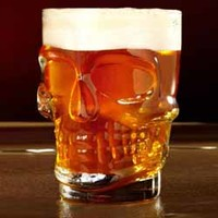 SKULL STEIN PINT GLASS