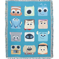 Disney Pixar Characters Woven Tapestry Throw