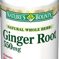 Nature's Bounty Ginger Root 550mg, 100 Capsules  (Pack of 2)