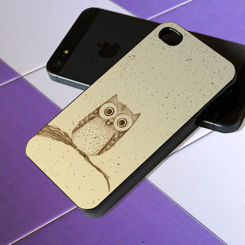 Cute Owl Birds - iPhone 4 / iPhone 4S / iPhone 5 / Samsung S2 / Samsung S3 / Samsung S4 Case Cover