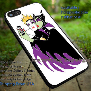 Maleficent and Grimhilde Selfie iPhone 6s 6 6s+ 5c 5s Cases Samsung Galaxy s5 s6 Edge+ NOTE 5 4 3 #cartoon #animated #disney #maleficent dt