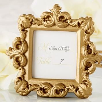 Gold Baroque Photo Frame Place Card Holder 4in x 3 1/2in | Party City