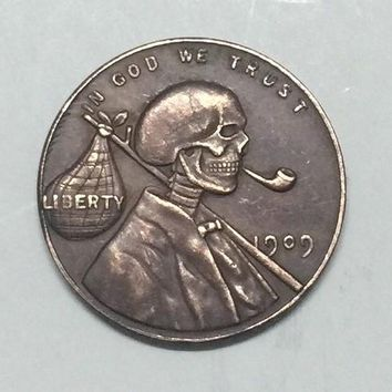 Hobo Nickel 1909 Lincoln Penny