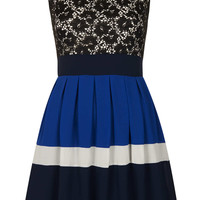 **Lace Block Dress by Wal G - Dresses - Clothing - Topshop USA