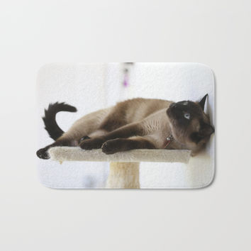 What's Up? Bath Mat by Theresa Campbell D'August Art
