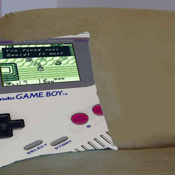 Zelda Gameboy - Pillow Case, Pillow Cover, Custom Pillow Case **