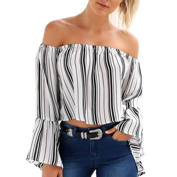 Flared Stripped Top