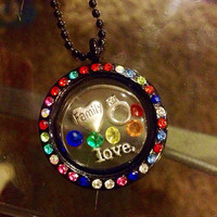 LGBT Pride and Awarendss Floating Charm Memory Lockets