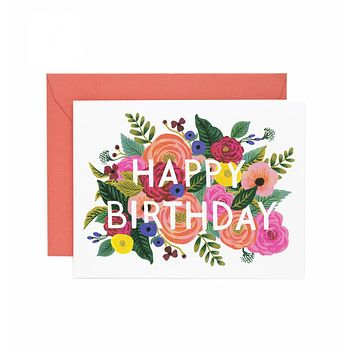 RIFLE PAPER JULIET ROSE BIRTHDAY CARD