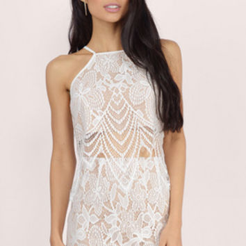 Pretty Thoughts Lace Crop Top $34