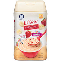 Gerber Lil' Bits Oatmeal Banana Strawberry Baby Cereal, 8 oz (Pack of 6)