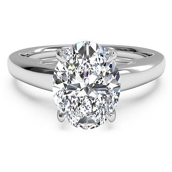 A Classic 3.6CT Oval Cut Belgium Lab Diamond Solitaire Engagement Ring