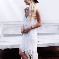 Hand Knit Crochet Maxi Dress | SPREDFASHION