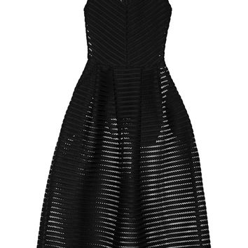 Maje - Rire mesh-striped jersey dress