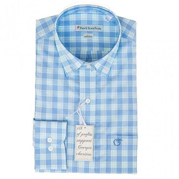 The Oconee Button Down in Blue & Green by Peach State Pride