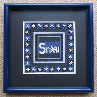 SNOW is a cross stitch and bead work digital file.
