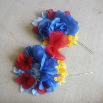 Snow White Floral Headband