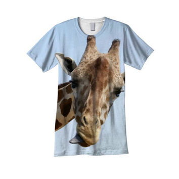 NEW! All over printed t-shirt, unisex Giraffe