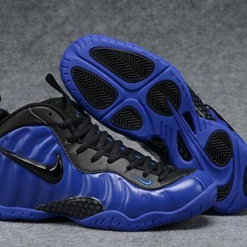 UCANUJ3V Air Foamposite Pro Royal Blue/Black Basketball Shoe Size 40--47