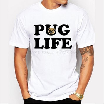 Newest Letter printed Men t-shirt Pug Life fashion short sleeve casual tops Motorpug vintage style hipster funny cool tee