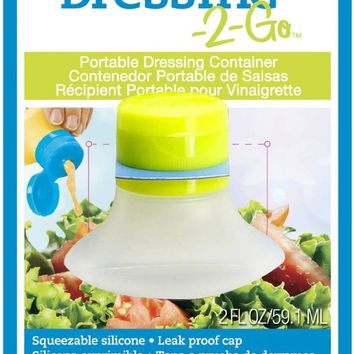 Dressing-2-Go Portable Leak Proof 2oz Salad Dressing Container