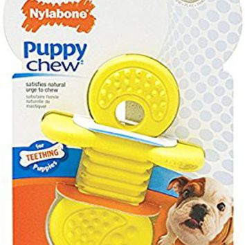 Nylabone Rhino Vanilla Scented Bone Puppy Dog Chew Toy