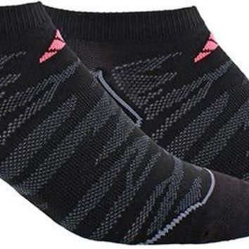 Adidas Women's Superlite Prime No Show Socks - 2 Pairs - Black/Grey/Pink