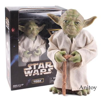 Star Wars Force Episode 1 2 3 4 5 Anime  Jedi Knight Master Yoda Action Figure PVC Collectible Toy Gift 18cm AT_72_6