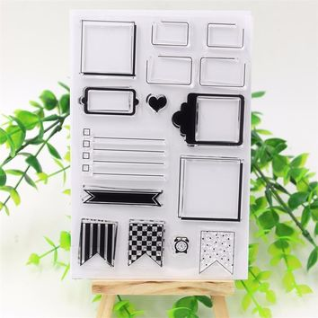 DIY PDA Labels Transparent Clear Silicone Rubber Stamp for DIY scrapbooking/photo album Decorative diary necessities