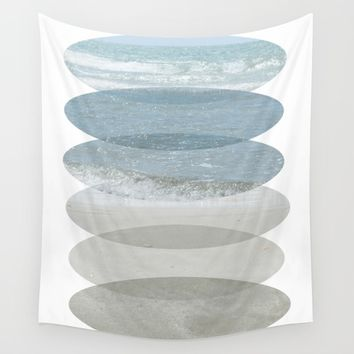 Beach Fragments Wall Tapestry by ARTbyJWP