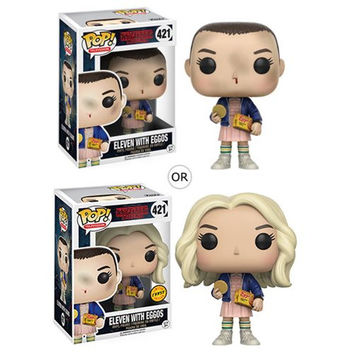 Stranger Things Eleven With Eggos Funko Pop Vinyl. Includes Chase