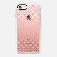 Coral Diamonds (transparent) iPhone 7 Case by Lisa Argyropoulos | Casetify