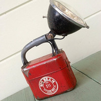 1940's Utility Lantern Portable Light from Big by AtHomeInNapa