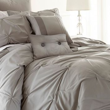 8 Piece Gray Comforter Set