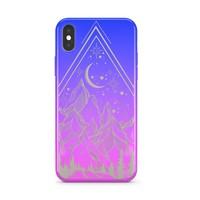 Gradient Chrome Shiny Happy Camper iPhone Case