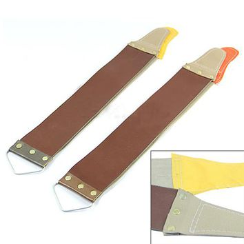Leather Sharpening Canvas Strop Barber Open Straight Razor Sharpening Shave Christmas Gift 6LTF