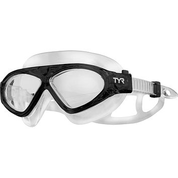 Tyr - Adult Magna Swim Mask Black Swim Goggles / Clear Lenses