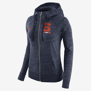 The Nike College Gym Vintage (Syracuse) Women's Full-Zip Hoodie.