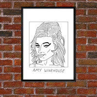 Badly Drawn Amy Winehouse - Poster